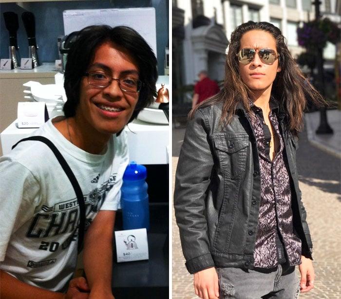 Antes y después de un chico que pasó de ser el patito feo a un sexi hombre
