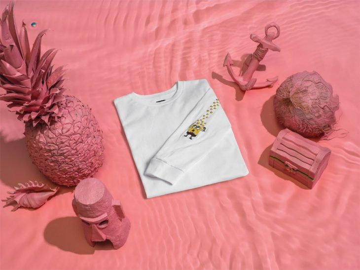 Colección de vans de Bob Esponja, Camisa blanca con el personaje impreso