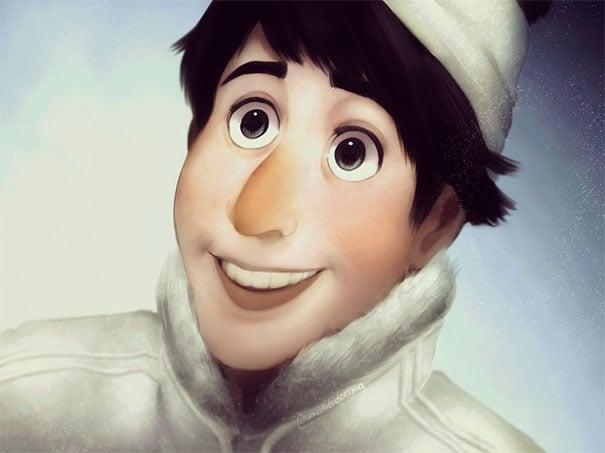 Caricatura de Olaf humanizada