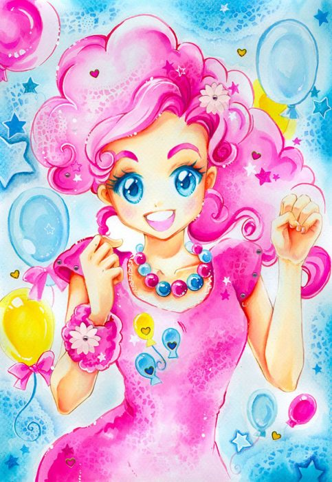 Caricatura de My little pony humanizada