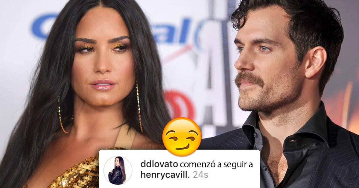 Demi Lovato coqueteandole a Henry Cavill en Instagram; una trampa bien puesta