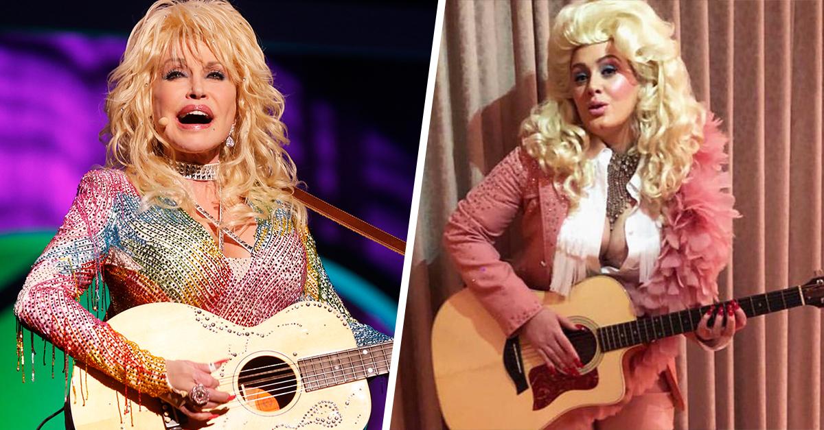 Adele rinde tributo a una de sus favoritas y se disfraza de Dolly Parton