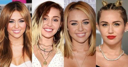 15 Fotos que de demuestran la evolución del cabello de Miley Cyrus