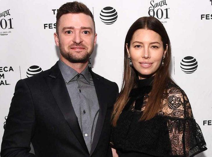 Justin Timberlake junto a su esposa jessica biel