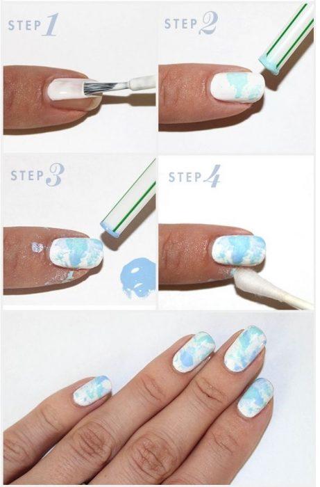 tutorial para uñas con olas de mar