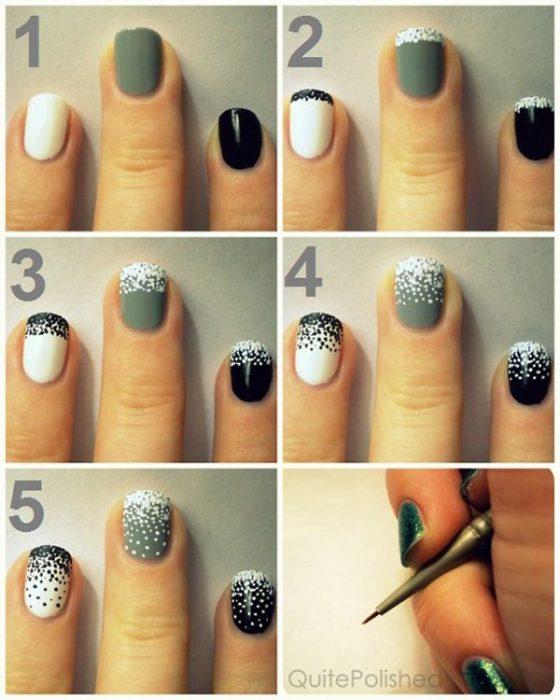 tutorial para uñas con puntitos
