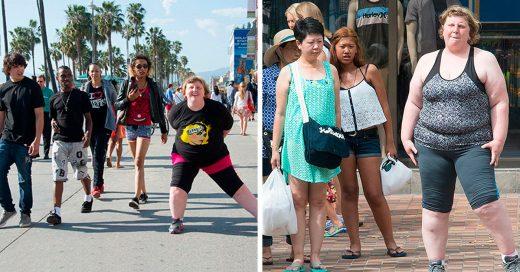 Esta fotógrafa demuestra cómo reacciona la gente ante la obesidad; el resultado es devastador