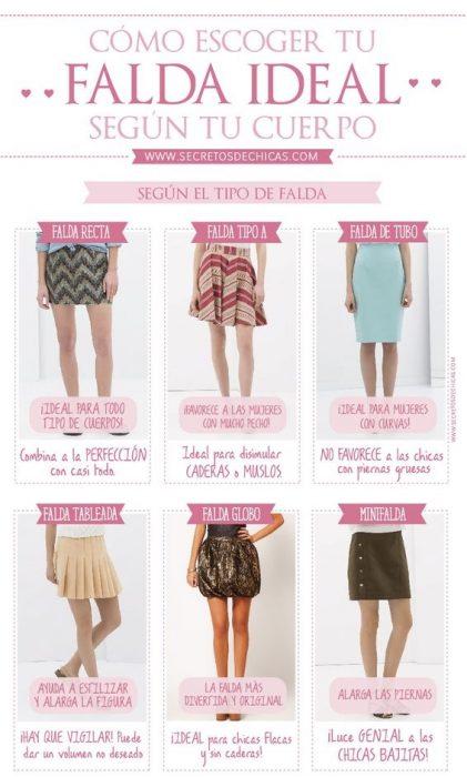 guia para elegir una falda según ti tipo de cuerpo