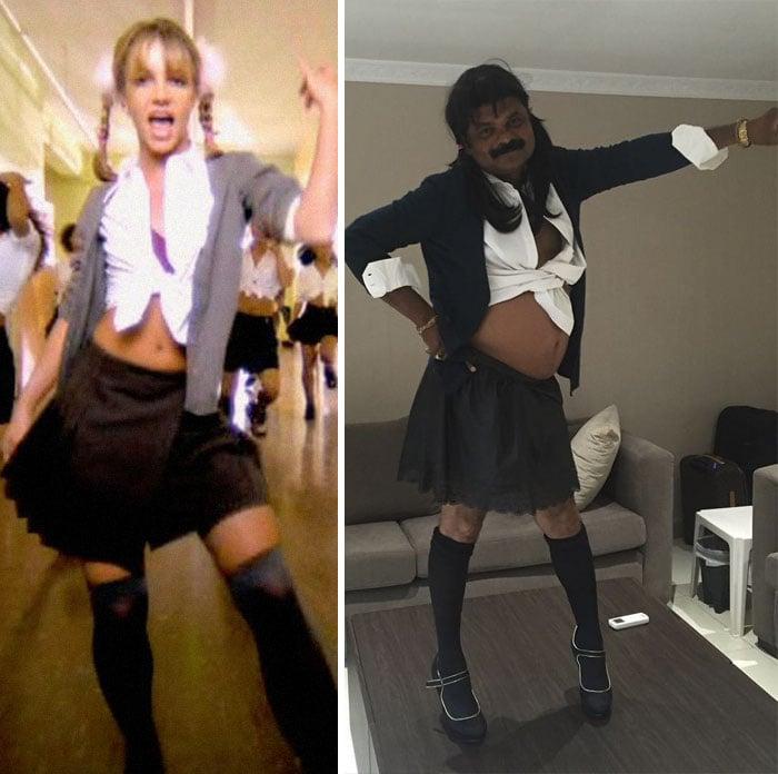 chica con falda corta - Britney Spears