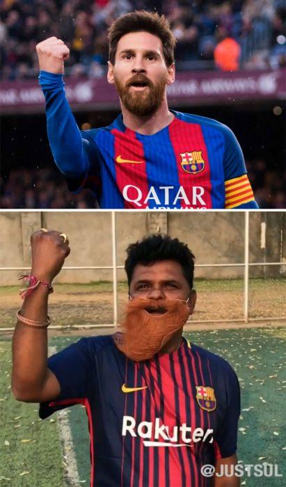 hombres jugando fútbol soccer