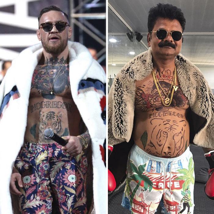 hombres mostrando sus tatuajes