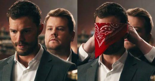 Jame Dornan y James Corden protagonizaron un video más candente que Cincuenta Sombras de Grey