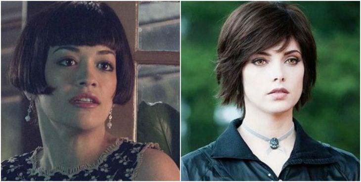 mujeres con el mismo corte de cabello corto