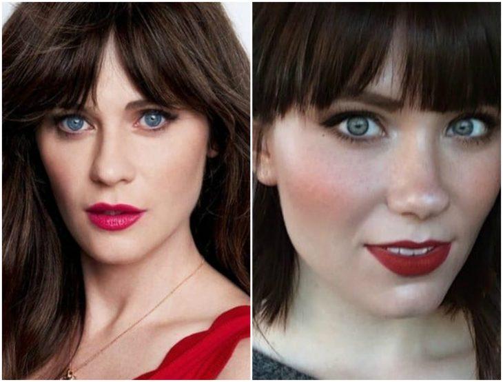 chicas de ojos azules
