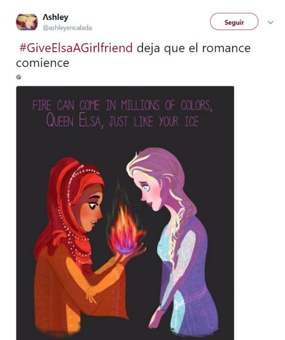 Comentarios en Twitter sobre la posibilidad de que Elsa de Frozen tenga novia