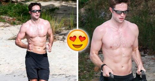 Robert Pattinson muestra su abdomen de infarto mientras disfruta unas vacaciones en la playa