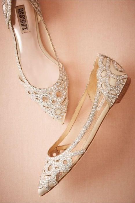 Zapatos bajos para vestidos fiesta