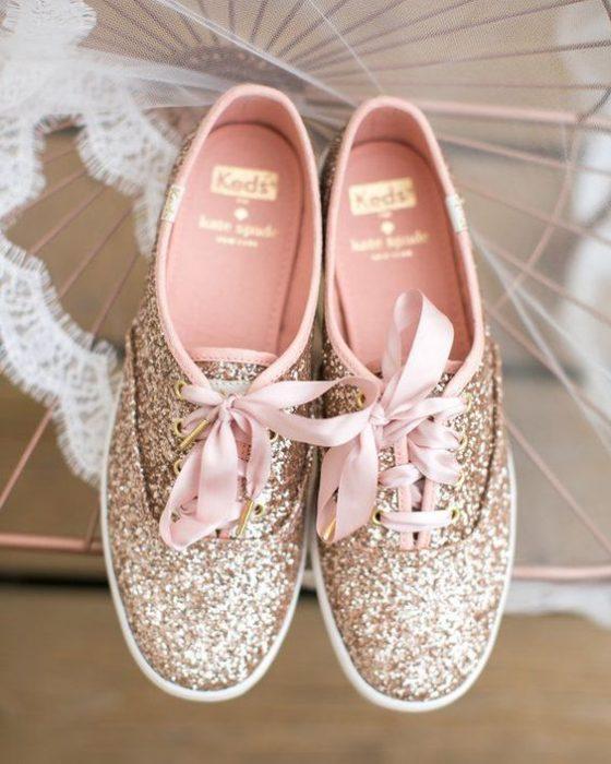 sneakers con glitters