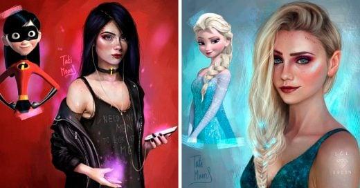 Esta artista crea versiones realistas de tus personajes animados favoritos, el resultado es alucinante
