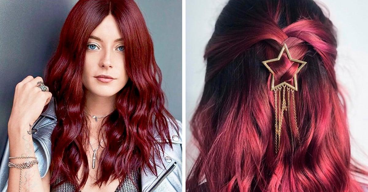 Imagenes de color de cabello vino