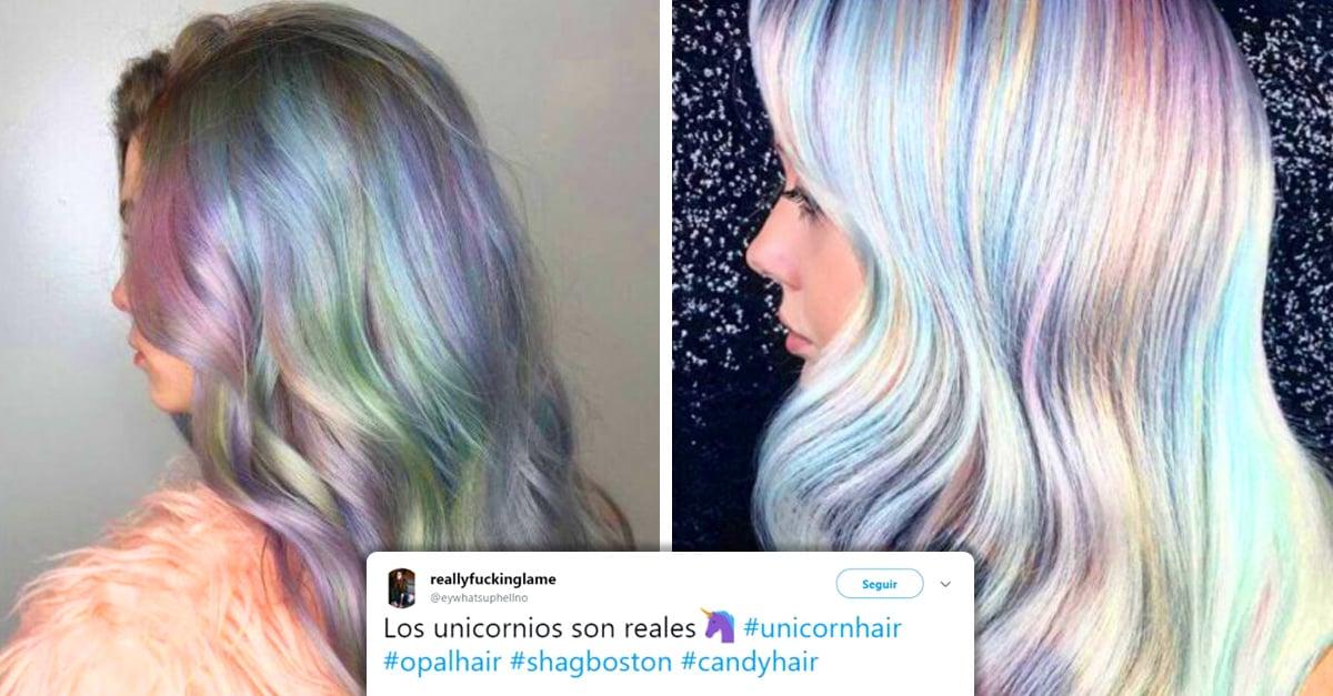 Cabello opal arcoíris, la tendencia que está obsesionando a las mujeres en Twitter