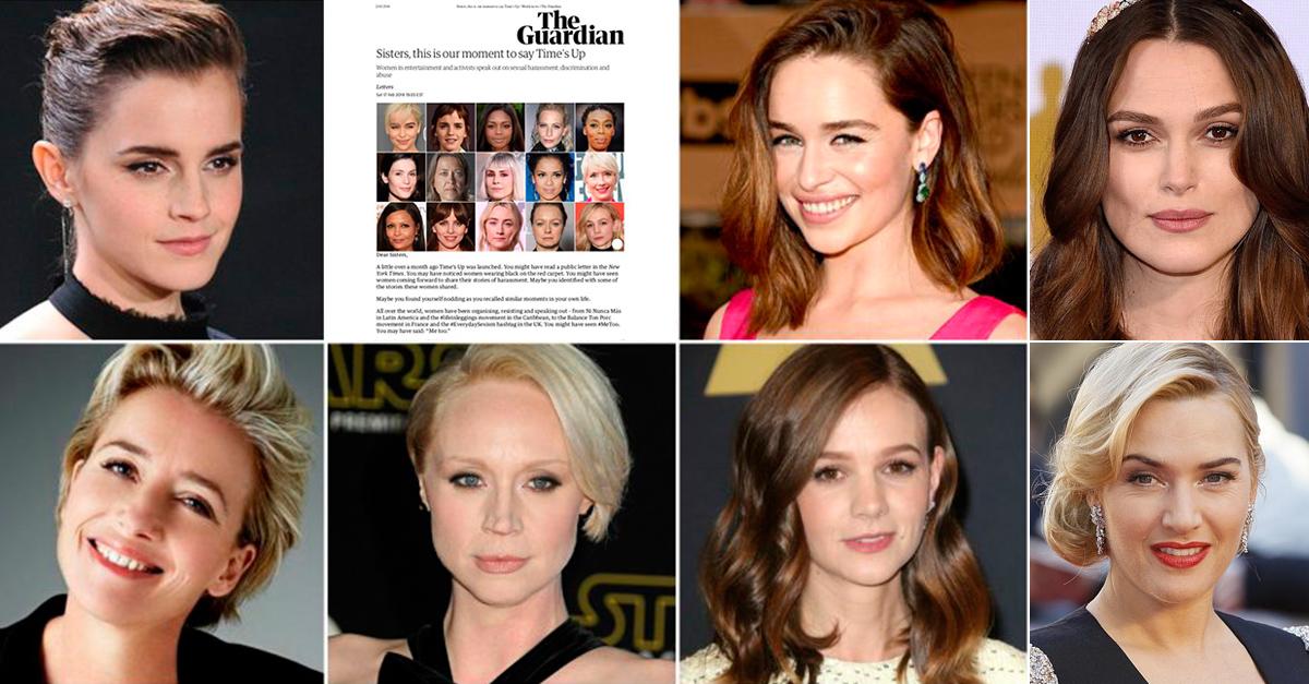 Emma Watson, Emilia Clarke y casi 200 actrices británicas se unen en contra del acoso sexual