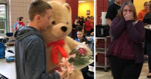 Chica fue victima de bullying en San Valentín y su amigo decidió darle una enorme sorpresa