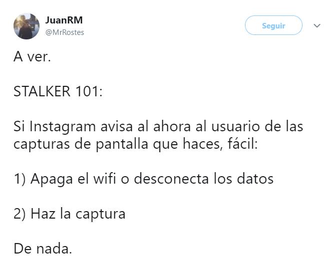 comentarios en twitter sobre las notificaciones de Instagram