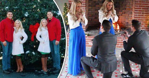 Hermanos gemelos piden matrimonio a sus novias, que también son gemelas