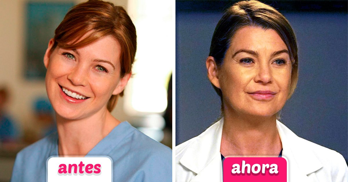El elenco original de Grey's Anatomy hace 13 años y ahora