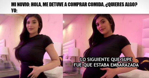 Kylie Jenner embarazada se ha vuelto el meme del momento
