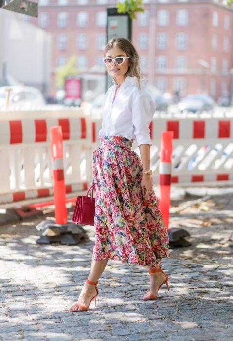 moda flores primavera 2018