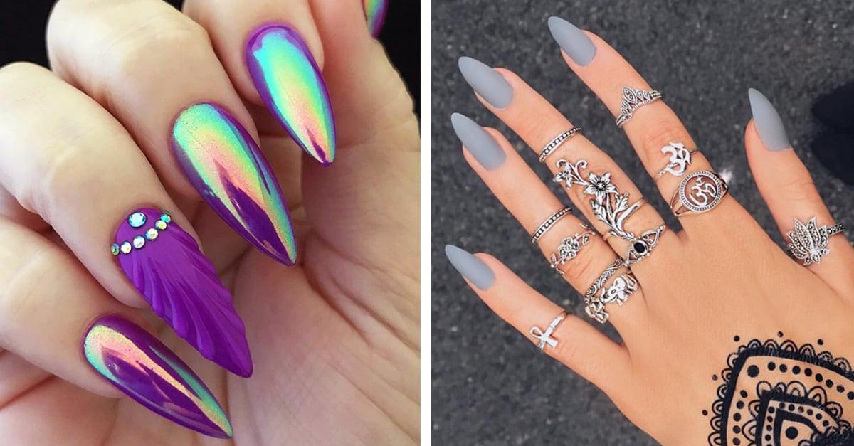 Diseños de uñas Stilleto que te van a encantar