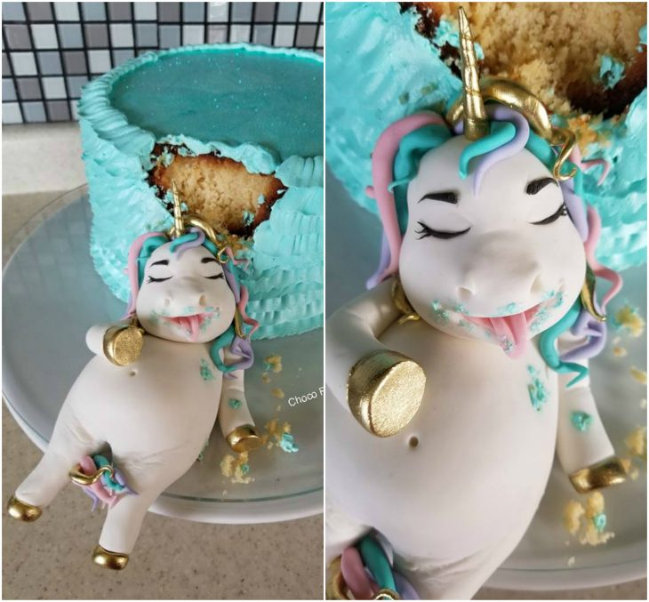 pastel unicornio gordito