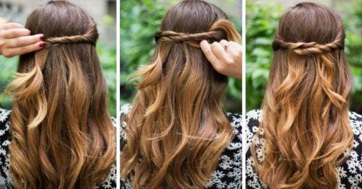 15 Peinados súper fáciles de hacer; en 5 minutos conseguirás el look perfecto