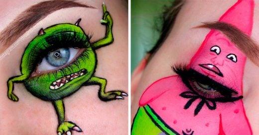 Maquilla a sus personajes favoritos en sus parpados, el resultado es demasiado cool