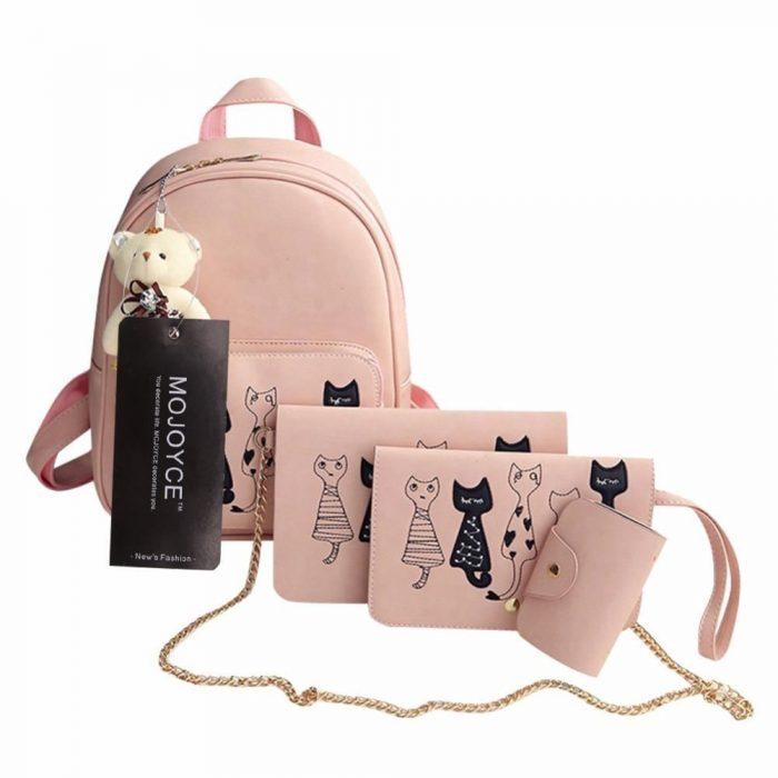 set de bolsos para mujer gatito