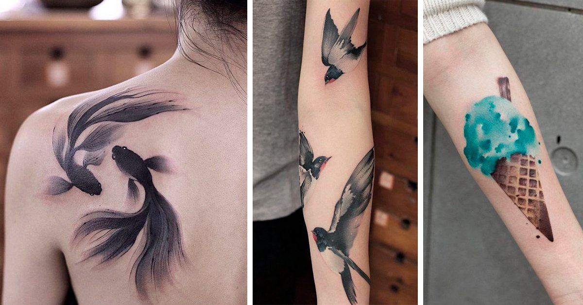 Esta artista usa una extraña técnica para hacer tatuajes