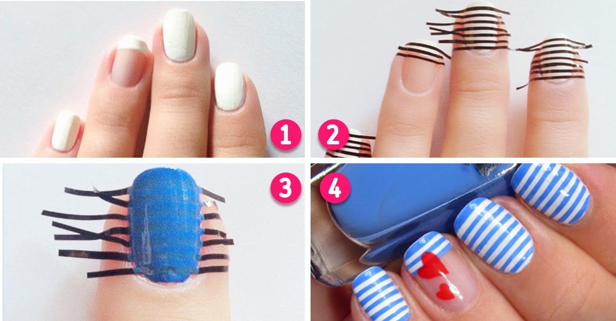 15 Sencillos tutoriales para decorar tus uñas; olvídate de hacer cita en el salón de belleza