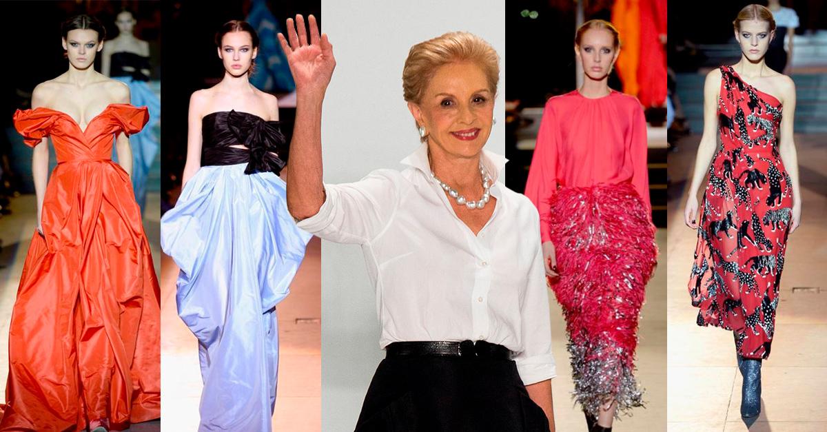 Carolina Herrera se despide del mundo de la moda con una espectacular pasarela