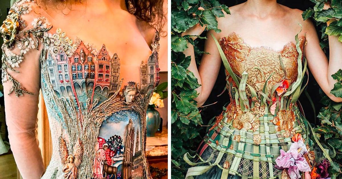 Esta diseñadora francesa crea vestidos increíbles