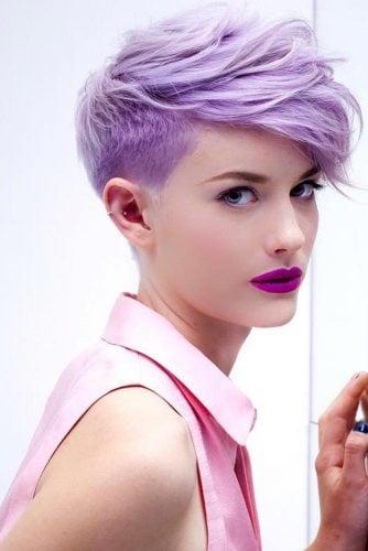violet pastel cabello corto
