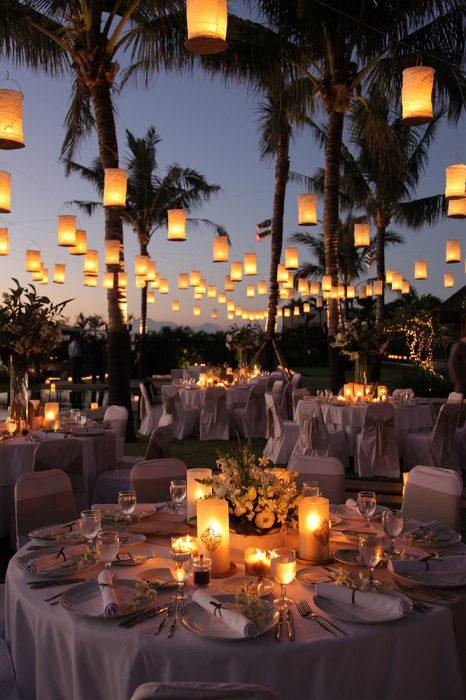 Decoración de boda inspirada en Enredados