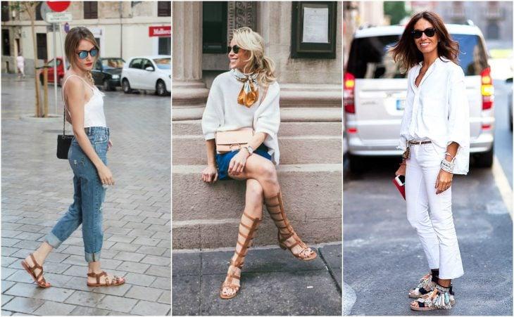 Cómodas sandalias de piso