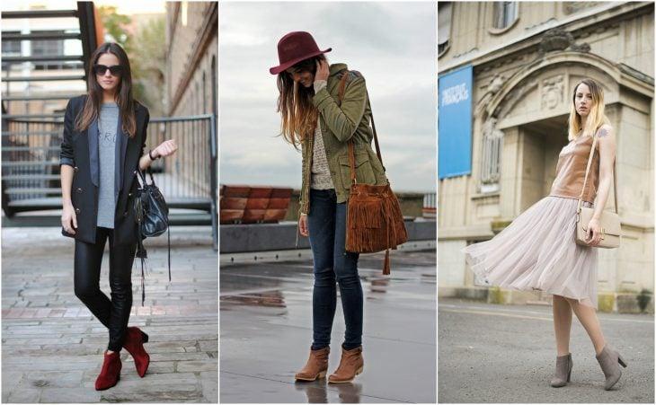 chicas usando diferentes tipos de botines