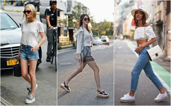 outfits con flatforms chica
