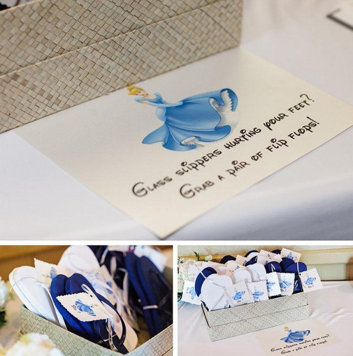 flipflops para las invitadas de tu boda estilo cenicienta