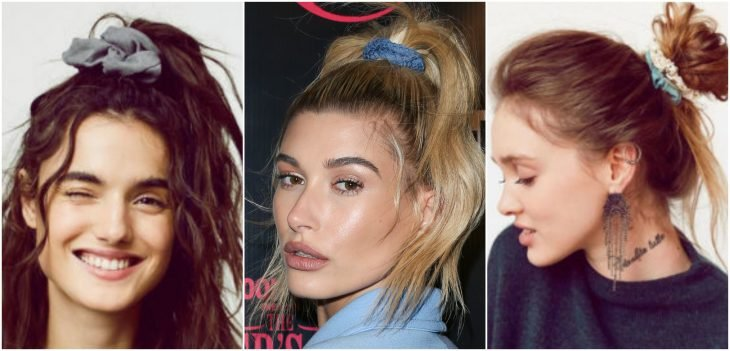chicas usando donas para el cabello