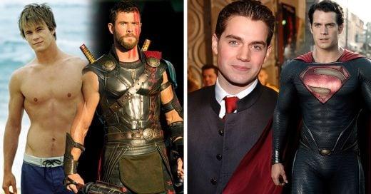 15 Actores antes y después de convertirse en súperheroes y tener súper físicos