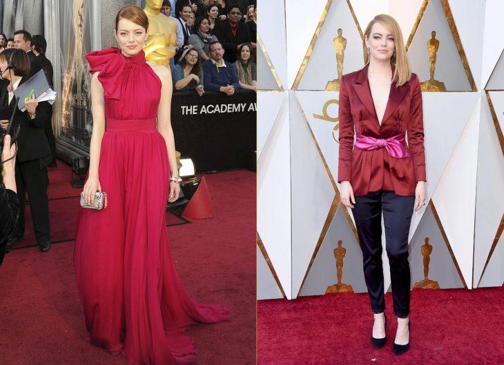 Actrices su primera alfombra roja premios oscar vs actualidad